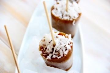 Coconut Coffee Popsicles