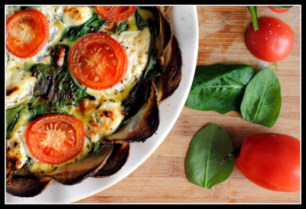 Goat Cheese, Spinach, and Tomato Quiche