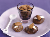 Dried Figs Stuffed with Almonds and Cream Cheese
