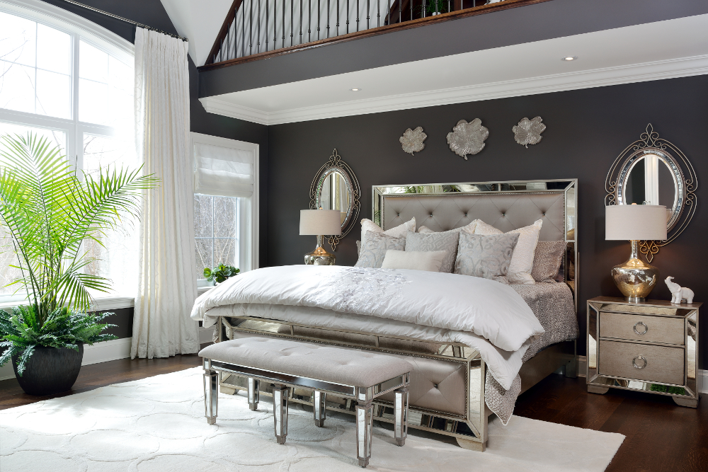 glamorous bedroom furniture choosing the best paint colour for a productive inspiring 11697