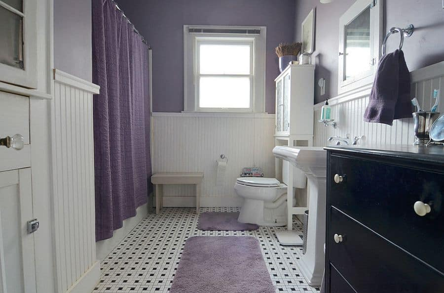white and purple bathroom the best colors for your bathroom in 2017 home trends 21393