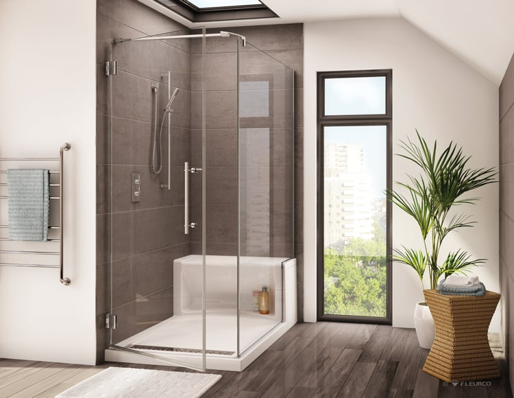 bathrooms that never go out of style - shower storage