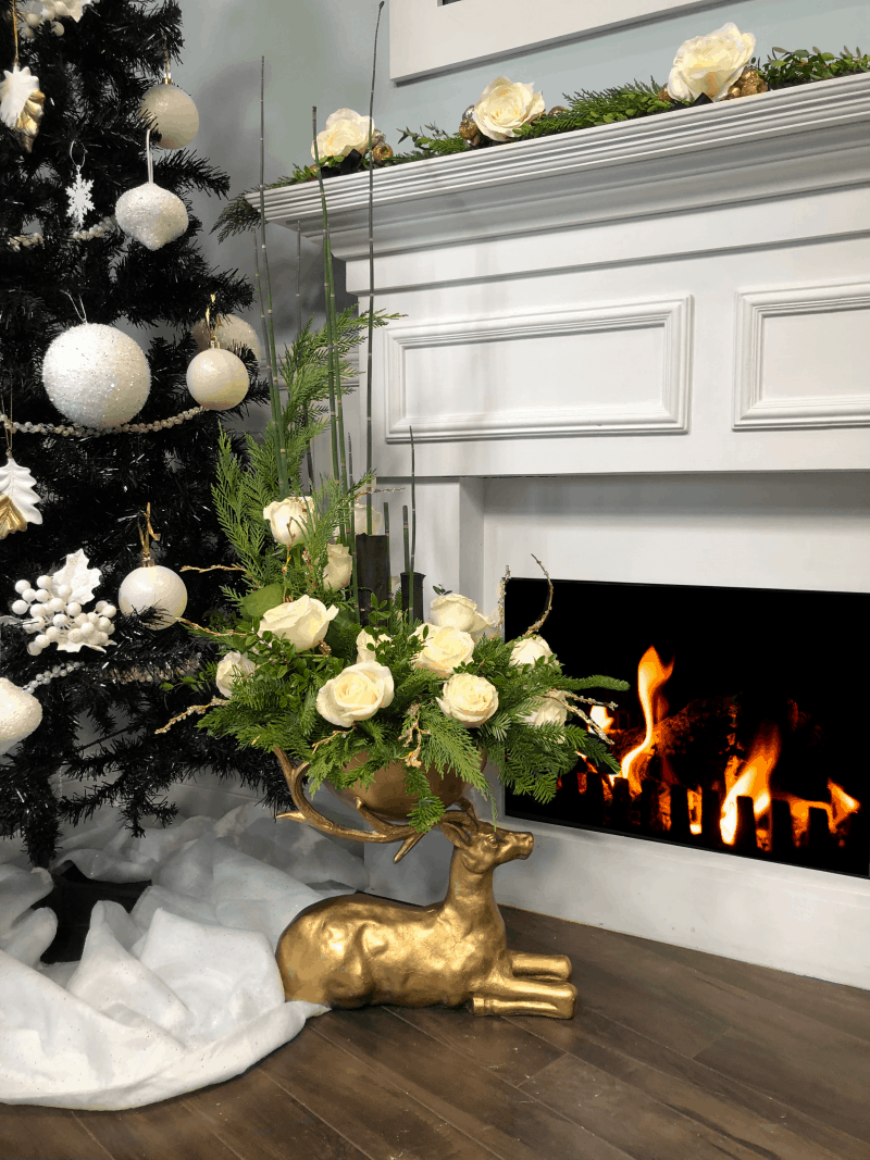 holiday decor with roses
