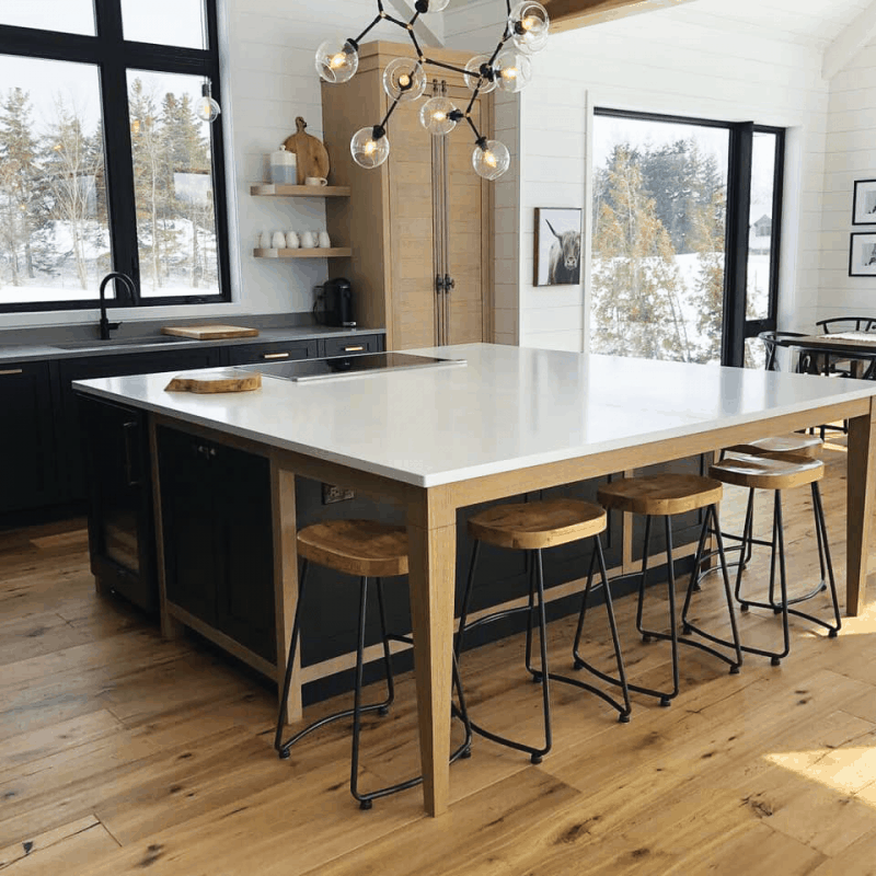 Rustic And Modern Chalet Kitchen Home, Rustic Modern Furniture Reno