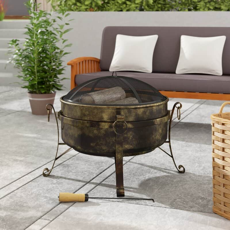 ENTER TO WIN: Flanigan Steel Wood Burning Fire Pit